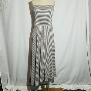 INC Strapless dress angled hem large
